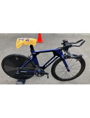 Orbea's Ordu has mounts aplenty - including on the top tube - but for a time trial UnitedHealthCare opts to plug them all with rubber