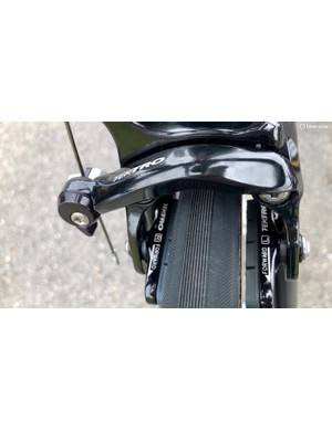 Not all pro time trial bikes have high-zoot aero brake calipers