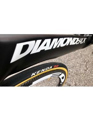 Rally's Diamondback Serios has a massive down tube, with