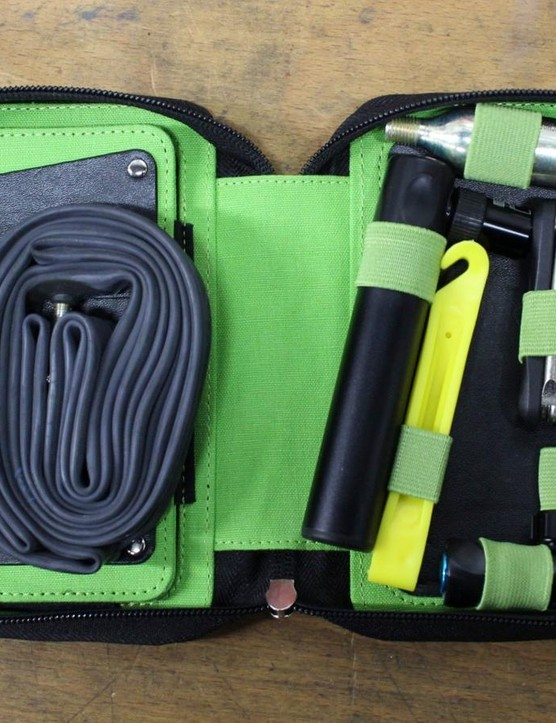 There's room for a smartphone, keys, cash, multitool, inner tube, CO2 canister and more