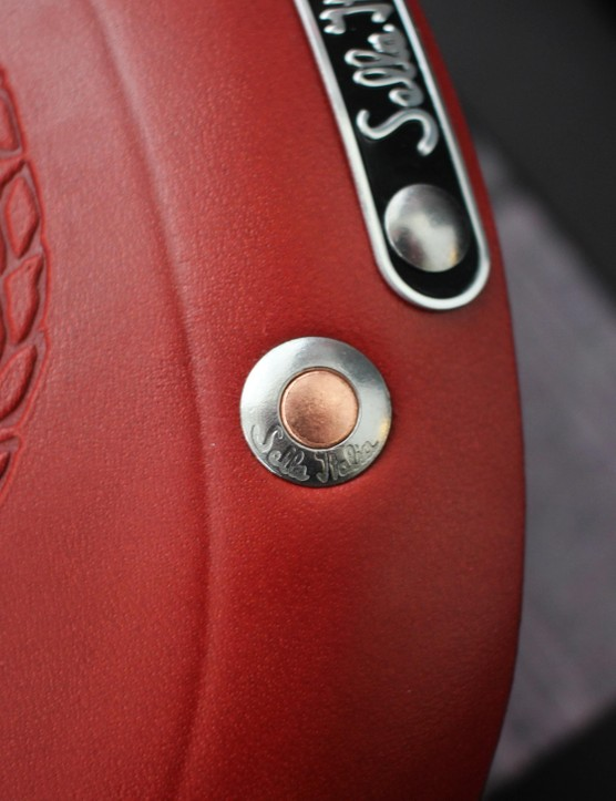 The rivets are made up of two metals, to reduce stretch