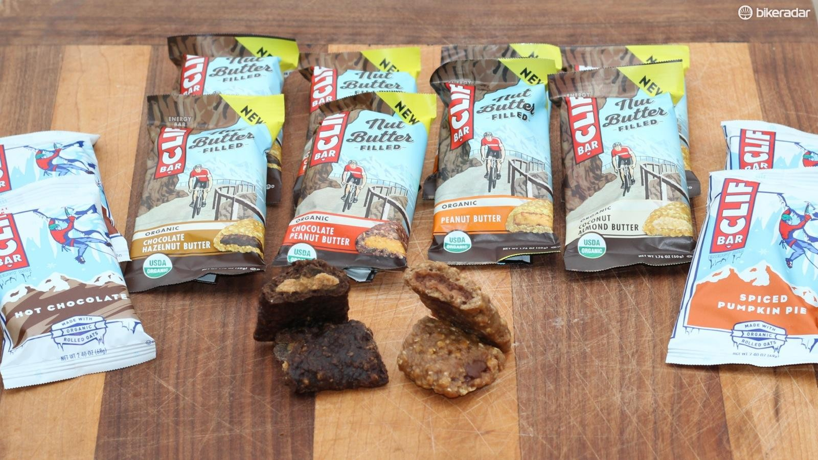 Nut butter filled bars are now a thing from Clif Bar and seasonal flavors like Hot Chocolate and Spiced Pumpkin Pie are back