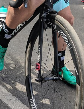The larger Boa dials also appear to be relocated on the shoe for a more even distribution of the tensioning cables