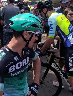 Although the new helmet appears to have limited ventilation, it didn't cause any problems for McCarthy in the hot Australian summer