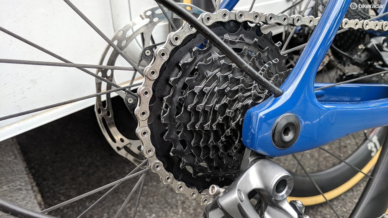3T produces cassettes with closer gear ratios at one end of the cassette for racing or climbing, here is the former
