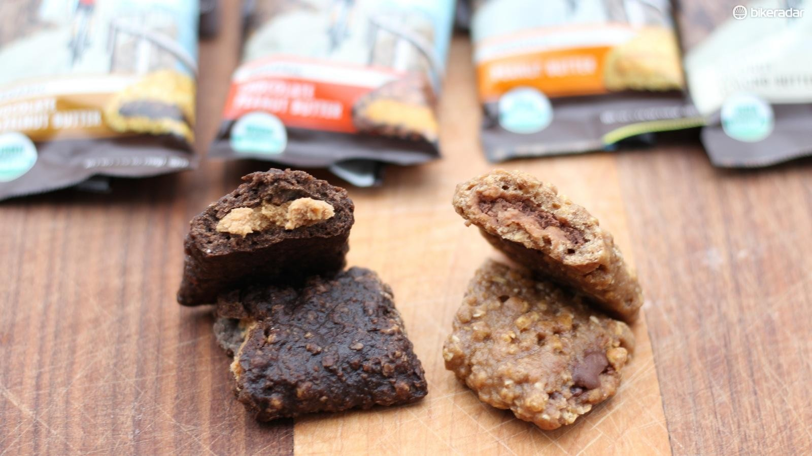 The new organic bars are filled with almond, peanut and hazelnut butters