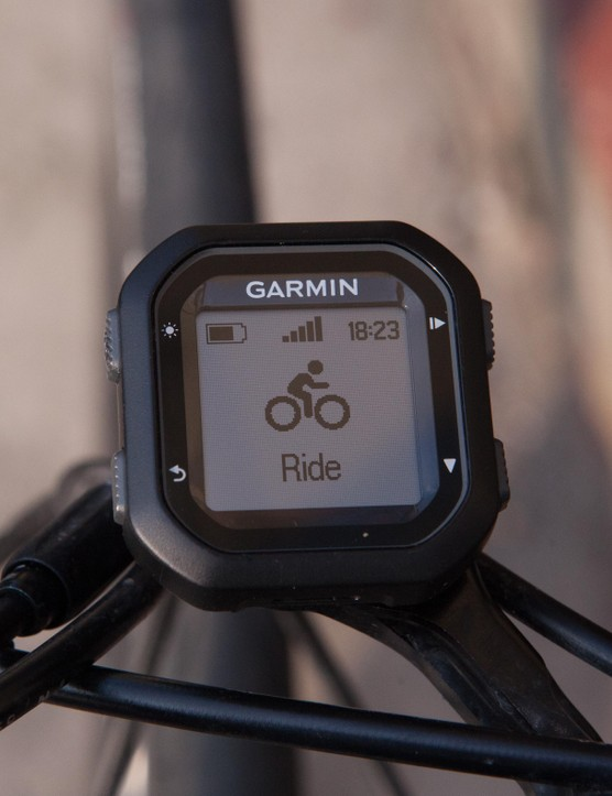 The Garmin Edge 20 – about as small a device as you're going to need