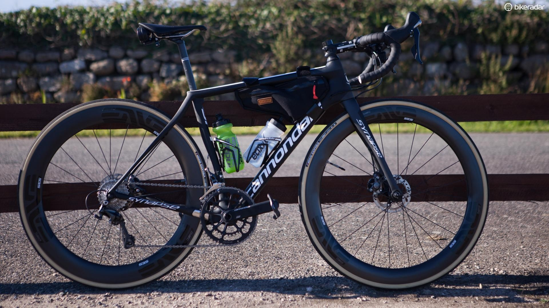 Cannondale's Synapse Carbon Ultegra was the ride of choice for the 1,000 mile north-bound journey