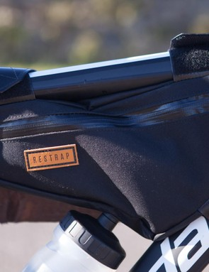 Restrap's #carryeverything frame bag comfortably held food and spares to keep weight off the back