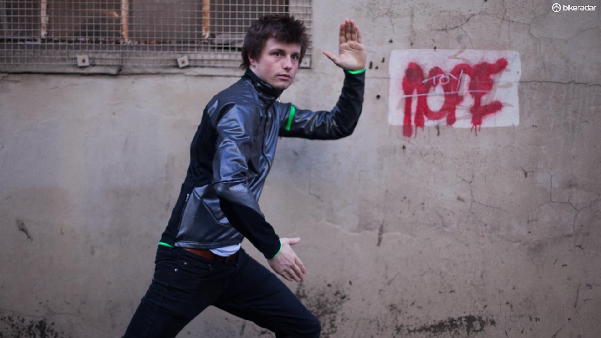 Young Jack models the Q36.5 Termica jacket