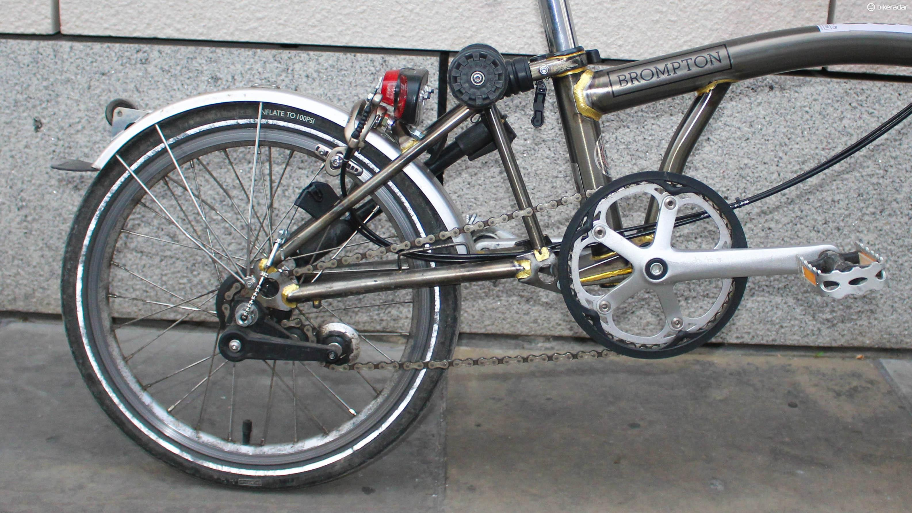 Eazy Wheels and a smaller front chain ring are two of the modifications I've made