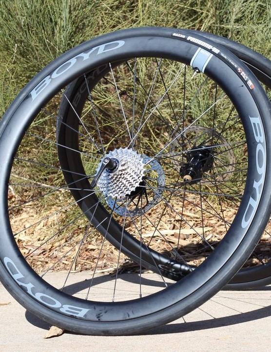 Boyd carbon clinchers are assembled in Greenville, South Carolina