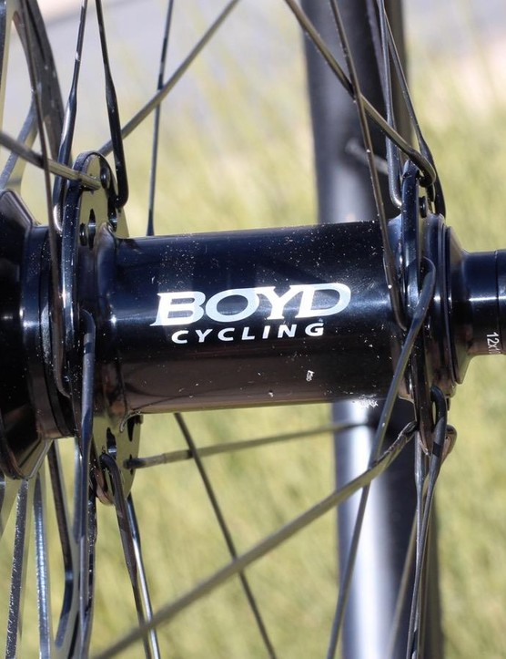 Boyd disc wheels work with quick release and thru-axle configurations