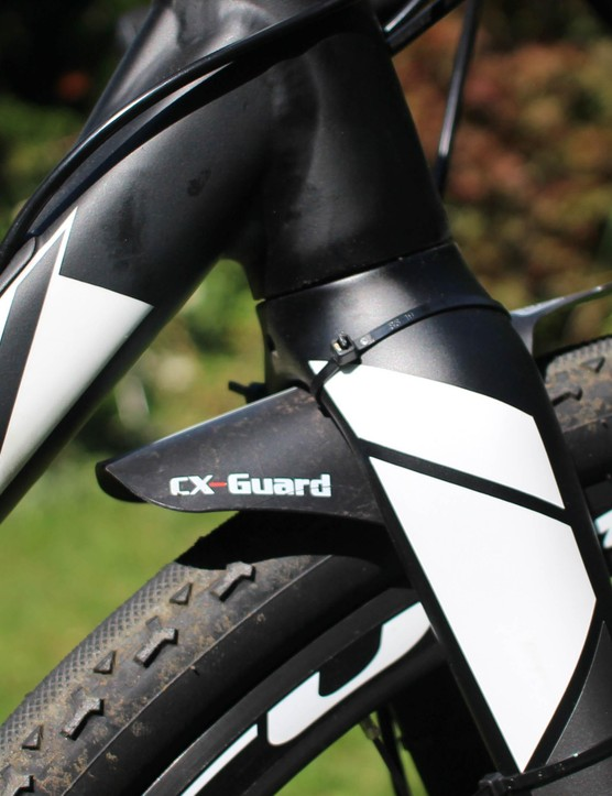 A CX-Guard fitted to the front fork kept mud and mess to a minimum