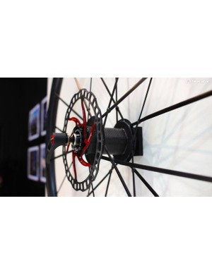 The hubs have an unusual pentagonal shape, which gives more surface area for the spokes, and means that the hub shell cannot detach from the hub body even if the glue fails
