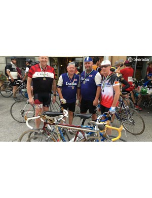 The men from Essex show off their bikes