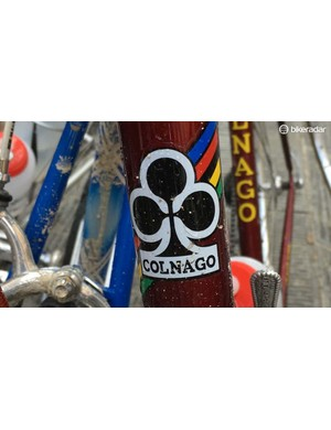There were plenty of Colnago bikes in use