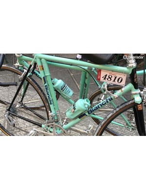 Two Bianchi bikes rest after riding the Eroica