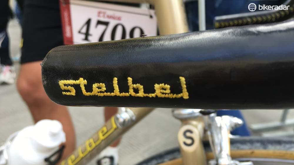 The Stelbel logo was engraved onto the leather bar covering