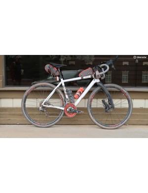 Cyclist Bobby Thompson of Emporia, Kansas, might have the world's most gravel, gravel bike