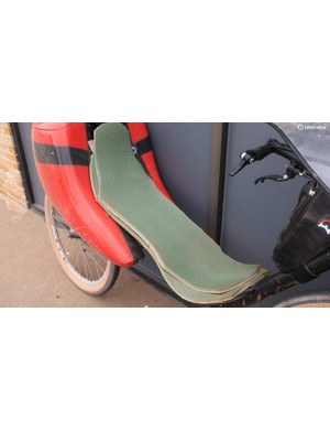 The seat is constructed from foam sleeping pads