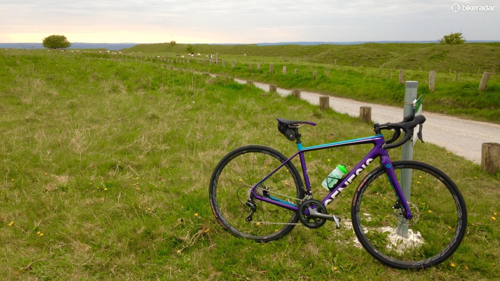 At the top of my regular training climb in Wiltshire