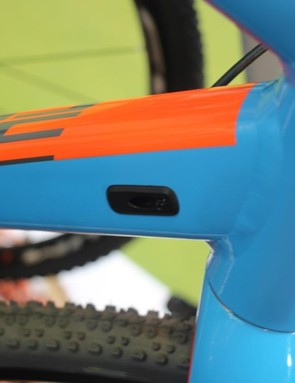 The frame is made from double-butted alloy, mechanically formed for easier shouldering of the bike