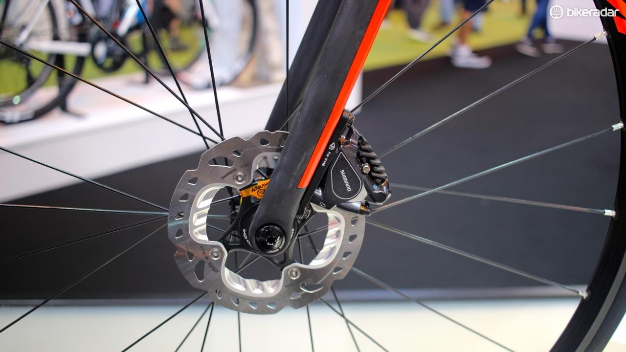 Shimano hydraulic disc brakes for the win