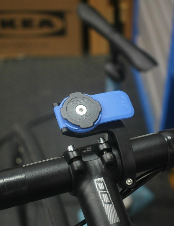 Some case-type mounts, like this one from Quad Lock, use a quarter-turn mount similar to Garmin