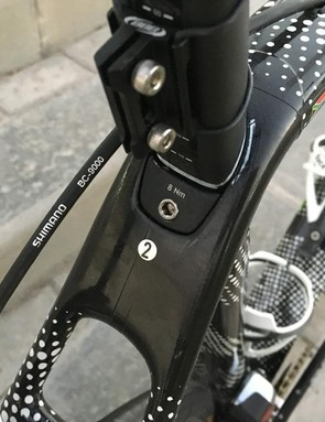 Another view of the seat clamp area