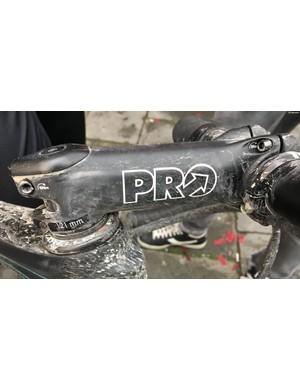 PRO provides Kwiatkowski's 121mm alloy stem