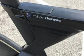 Rohan Dennis' name adorns the top tube