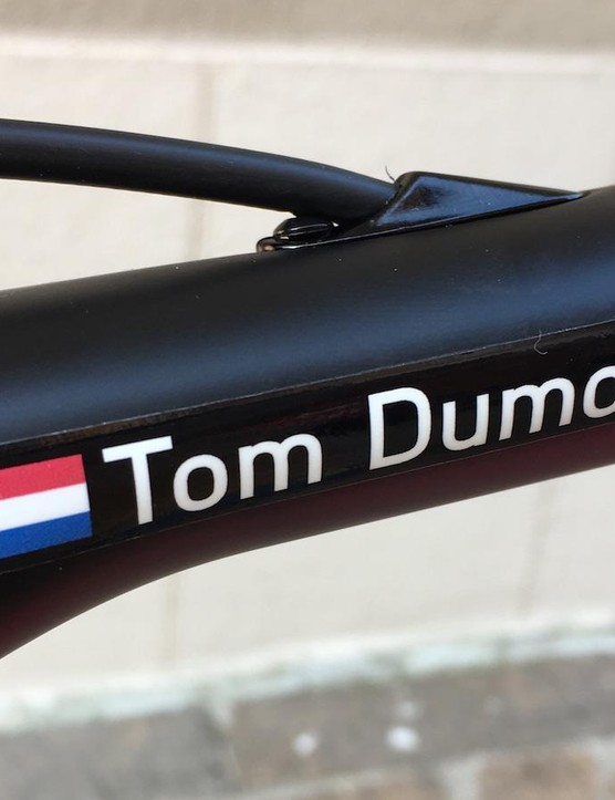 The Dutchman's name adorns the top tube