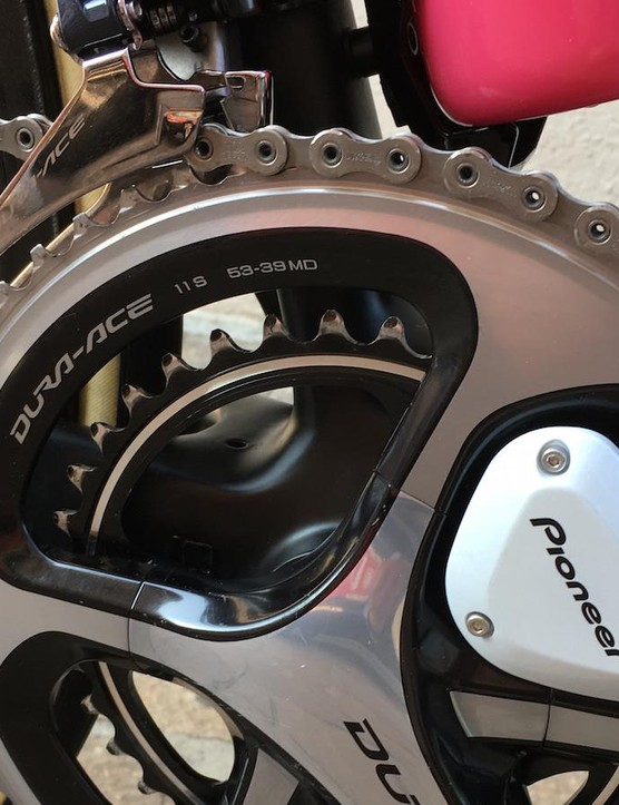 Dumoulin opts for regular 53/39T chainrings despite nearly 6,000m of climbing for the stage