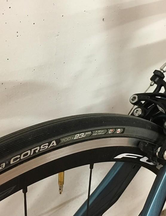 The Vittoria Corsa G+ tyres were superb