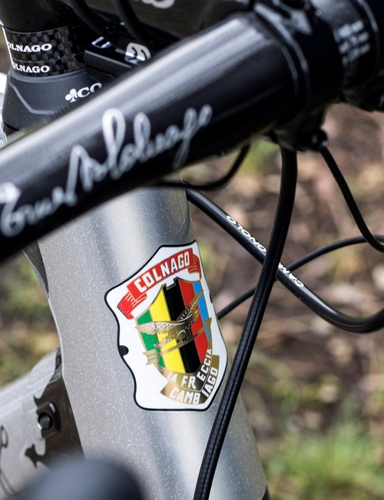 The original Colnago logo from 1954 can be found on the head tube