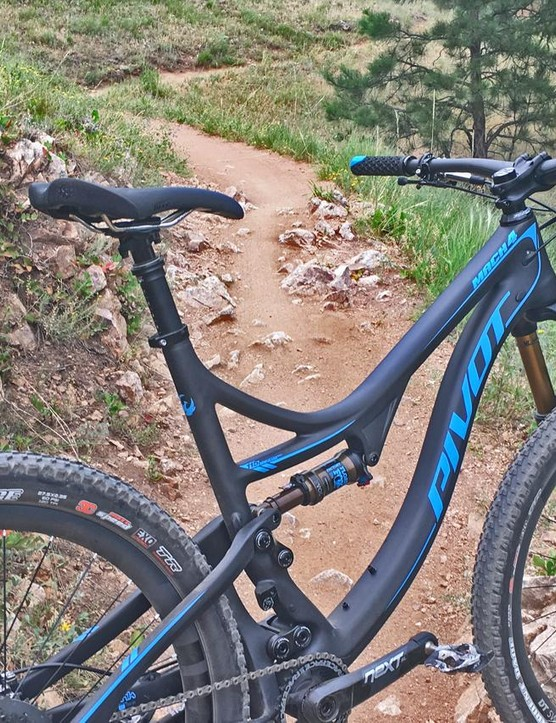 Pivot's new Mach 4 in the trail build features 115mm travel out back and 130mm up front