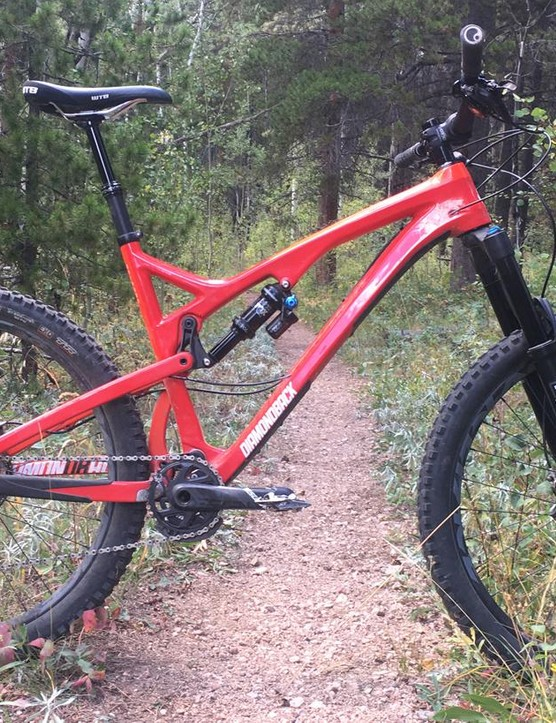 Diamondback's Release 5c is the company's first carbon full-suspension bike