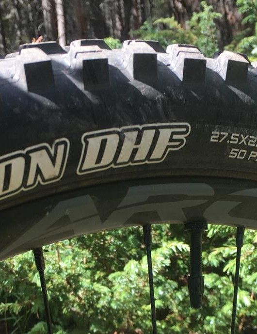Hooray for legit tires on stock builds! Wide tread Maxxis Minions are fitted to Race Face Arc 30 rims front and rear