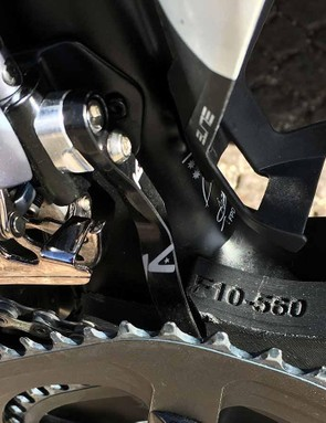 Additional plates of carbon and a K-Edge chain catcher ensure the chainstays on Froome's Osymetric chainrings