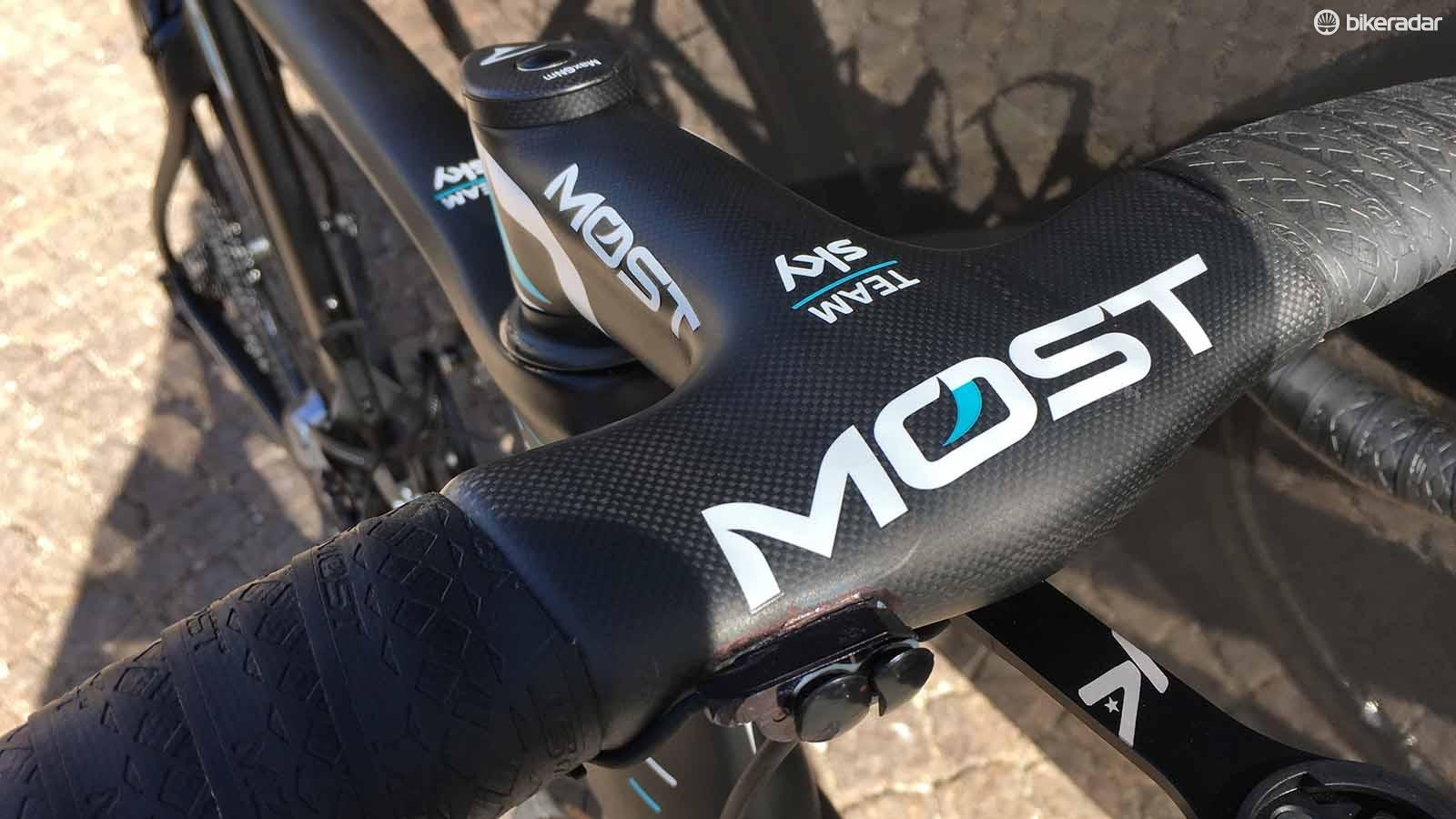 Pinarello's sister brand Most provides Team Sky with its cockpit components for the 2018 season