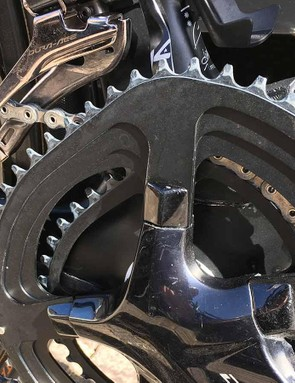 Froome has been running Osymetric chainrings for several seasons