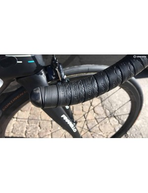 The Most integrated cockpit is paired with Most handlebar tape and proprietary bar ends