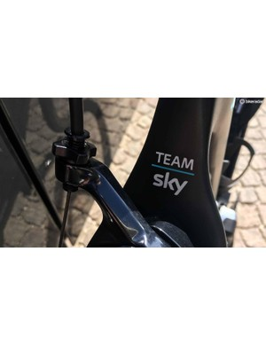 A Team Sky decal sits at the top of the seatstays