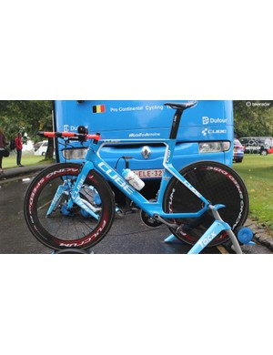 Wanty-Groupe Gobert rode a Cube C68 TT bike equipped with Shimano Dura-Ace and Fulcrum wheels