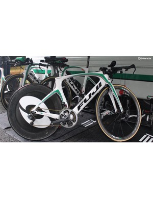 Caja Rural rode the Bristol TT on Fuji Norcoms