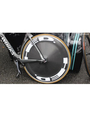 The former world TT champion rolls on HED wheels