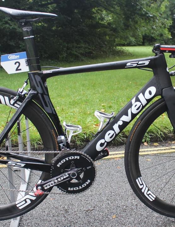 Steve Cummings' Cervelo S5 for the Tour of Britain
