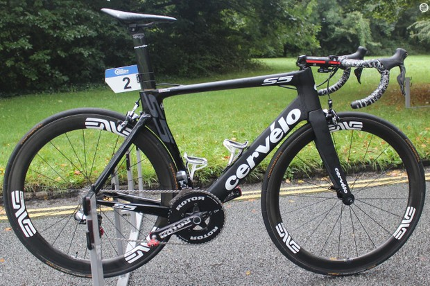 Steve Cummings' Cervelo S5 for the Tour of Britain