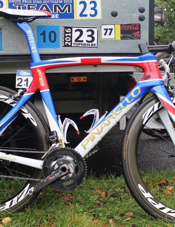 Sir Bradley Wiggins' custom painted Pinarello Dogma F8